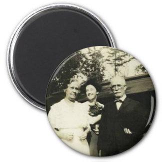 family holding cat magnet