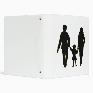 Family holding hands silhouette binders