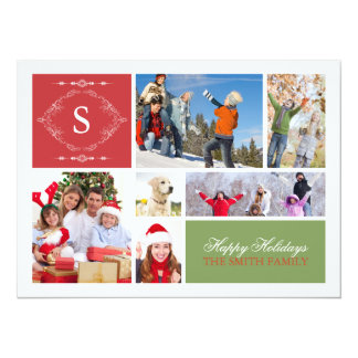 Family Holiday Greeting Custom Invites