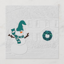 Family Holiday Message Snowman Theme