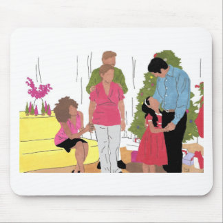 FAMILY HOLIDAY MOUSE PAD