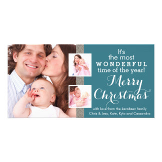 Family Holiday Photos Any Color Christmas Mailout Custom Photo Card