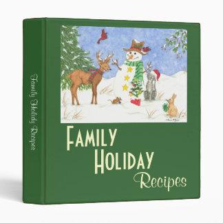Family Holiday Recipes - Binder