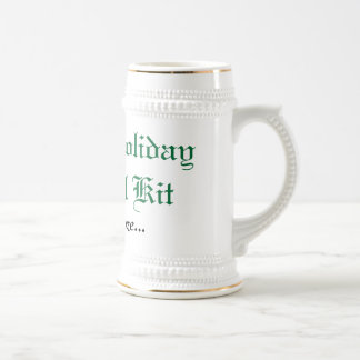 Family Holiday Survival Kit Beer Stein