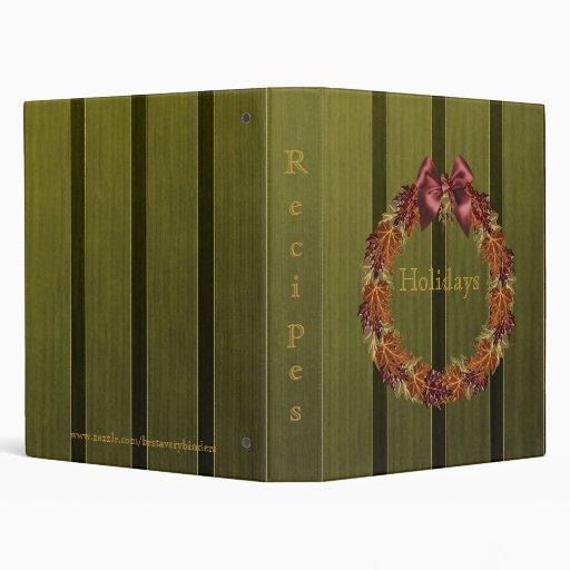 Family Holidays Recipes Cookbook #2 Avery Binder