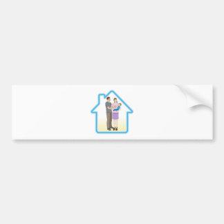 Family home concept bumper stickers