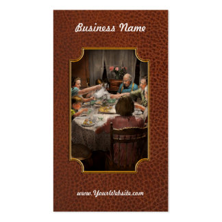 Family - Home for the holidays 1942 Double-Sided Standard Business Cards (Pack Of 100)
