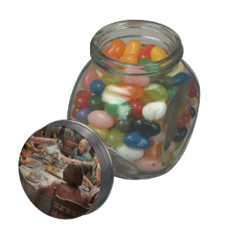 Family - Home for the holidays 1942 Glass Candy Jar