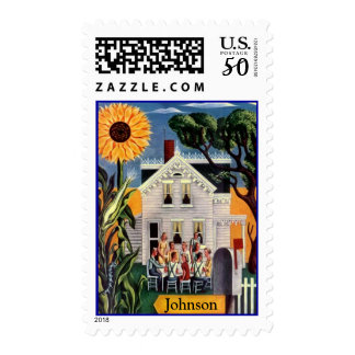 Family Home Sunflower Daze Reunion Gathering stamp