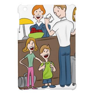 Family Hotel Check In Cartoon iPad Mini Covers