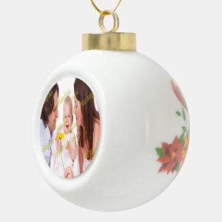 Family Image Memories Photo Template Ceramic Ball Christmas Ornament