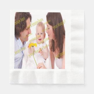 Family Image Memories Photo Template Paper Napkin
