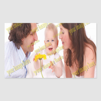 Family Image Memories Photo Template Rectangular Sticker