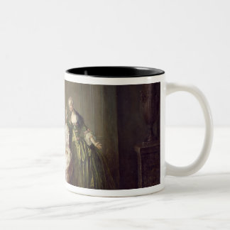 Family in an Interior with Squirrels Two-Tone Coffee Mug