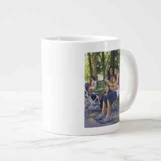 Family in the Park 1999 Large Coffee Mug
