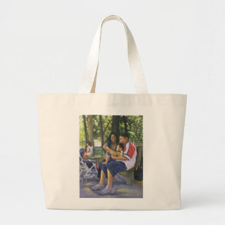 Family in the Park 1999 Large Tote Bag