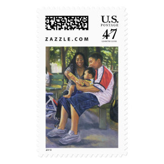 Family in the Park 1999 Postage