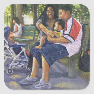 Family in the Park 1999 Square Sticker
