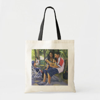 Family in the Park 1999 Tote Bag