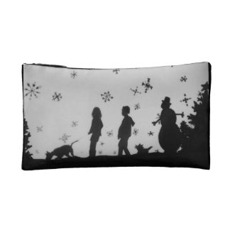 """Family In The Snow"" Holiday Cosmetic Bag"
