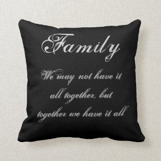 Family Inspiration Throw Pillow