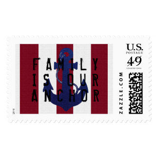 Family is anchor custom postage stamp