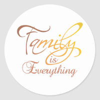 Family Is Everything Classic Round Sticker