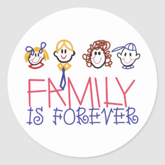 Family is Forever Classic Round Sticker