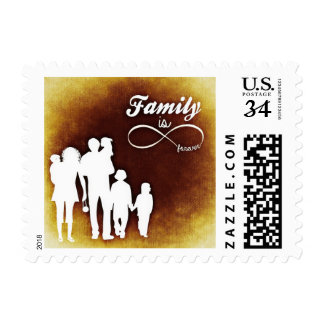 Family is Forever Inspirational Silhouette Stamp