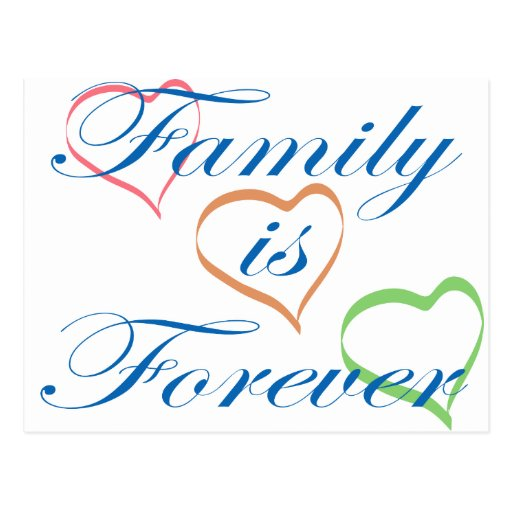 Family is Forever Postcard