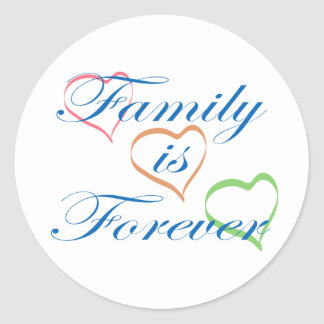 Family is Forever Round Stickers