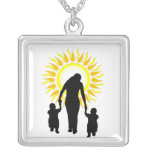 Family Is Love Sun necklace