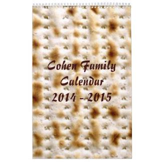 Family Jewish Wall Calendar, 9/2014 - 8/2015