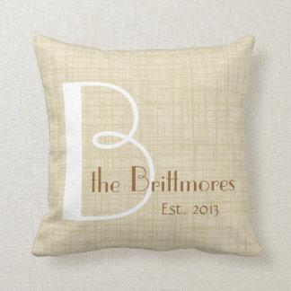 Family Keepsake Parchment Pillow, Customize Pillow
