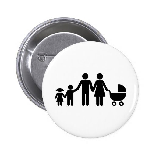 Family kids baby buggy pinback buttons