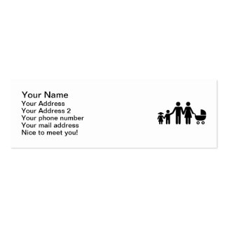 Family kids baby buggy mini business card