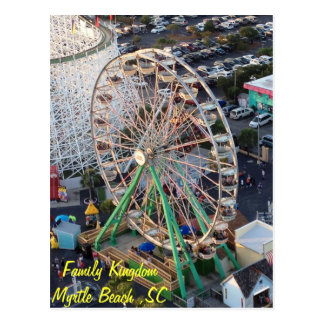 Family Kingdom Carousel Postcard