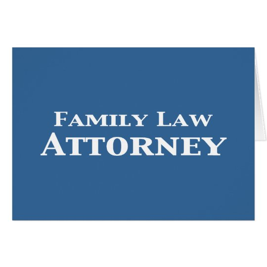 Family Law Attorney Gifts Card