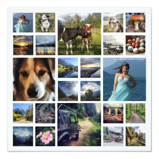 Family Letter with 24 Photos throughout Year Card