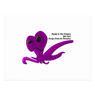 Family Like Octopus We Can't Escape From It Postcard