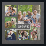 "Family Love Custom Photo Collage Modern Chalkboard Faux Canvas Print<br><div class=""desc"">Create your own beautiful family keepsake by adding your own family photos to this beautiful modern and trendy faux canvas print photo collage. Design features the words ""Family Love"" in hand lettered script typography. This photo print collage will be sure to please anyone and will be a great gift for...</div>"
