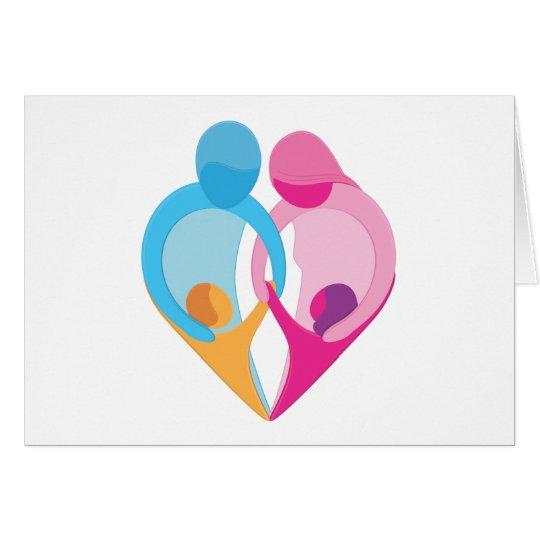 Family Love Heart Symbol Card