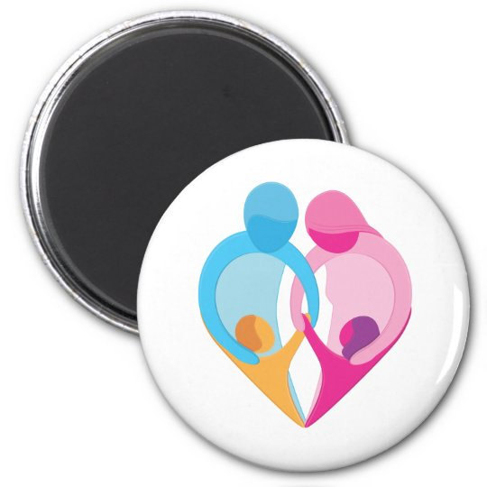 Family Love Heart Symbol Magnet