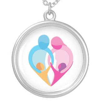 Family Love Heart Symbol Necklace
