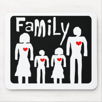 family  love in illustration mouse pad