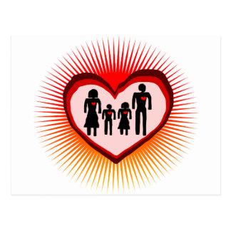 family  love in illustration postcard