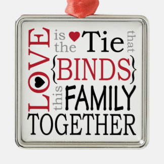 Family Love Metal Ornament