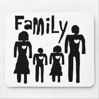 family  love mouse pad