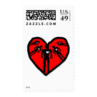 family  love postage stamp