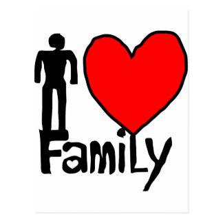 family  love postcard